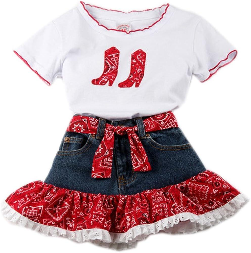 Girls' Red Milwaukee All items free shipping Mall Bandana Skirt Set