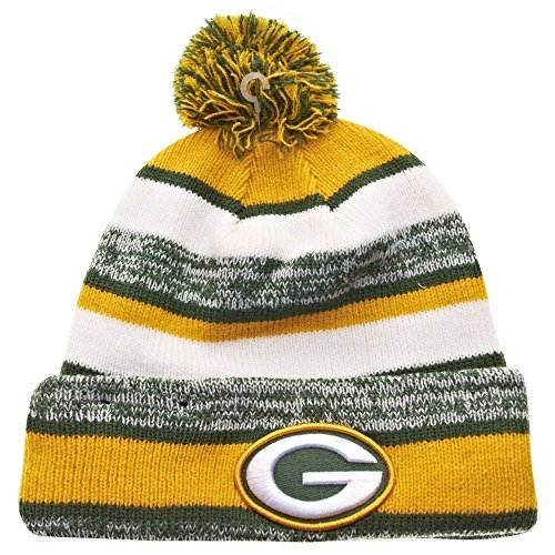 New Era Green Bay Packers 2014 On Field Sport Cuffed Pom Knit Beanie Hat/Cap