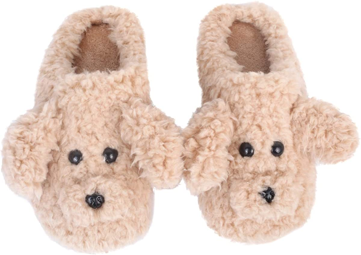 Women's Cheap super special Max 71% OFF price Poodle Plush Slippers Adorable Sl Soft Winter Animal Dog