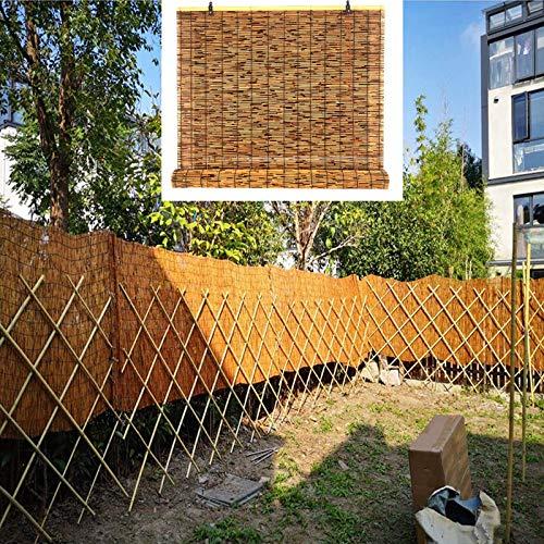 L-DREAM Persiana De Bambú para Interiores Y Exteriores 100cm, Persianas De Caña, Sombra Aislamiento Térmico para Jardín Patio Balcón, Estor Enrollable De Bambu Cocina