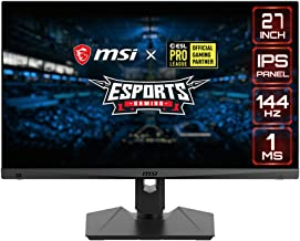 "MSI Full HD Gaming RGB Non-Glare Super Narrow Bezel 1ms 1920 x 1080 144Hz Refresh Rate Adjustable Height Arm FreeSync 27"" ..."