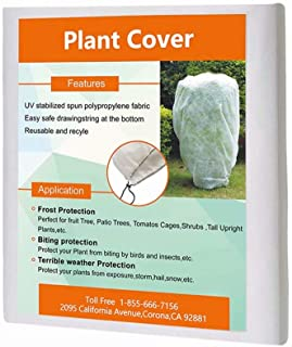 Agfabric Plant Cover for Freeze Protection Warm - 0.95 oz Worth Frost Blanket 72''x60''x12'' Shrub Jacket, 3D Cube Plant Cover for Season Extension&Frost Protection