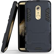 MicroP Axon 7 Case, ZTE Axon 7 Case, (TM) Dual Layer Armor Hard Slim Hybrid Kickstand Phone Cover Case for ZTE Axon 7 (Navy Blue Kickstand Case)