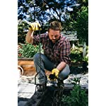 "Yard butler twist tiller heavy duty manual raised bed garden and flower box claw weeder cultivator aeration hand tool… 9 ergonomic design 38"" tall with a step plate that centers you over the tool, a solid ½"" powder coated steel shaft and a wide 12"" t handle that reduces the effort of twisting, using the force of your body to easily rotate sharp angled claw tines into hard compacted soil. Loosens, turns, tills and aerates soil promoting the free flow of water, air, and fertilizer for a healthier and more beautiful yard and garden. Perfect size for raised beds, flower boxes, around shrubs or bushes and other hard to reach areas. Ideal for mixing fertilizer or peat moss amendments and preparing a bed for planting. Makes weeding easy."