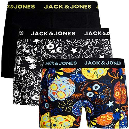 JACK & JONES Trunks 3er Pack Boxershorts Boxer Short Unterhose Mehrpack (L, 3er Pack @37)