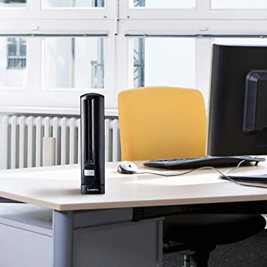 Lasko T14200 Air Stick Ultra Slim Oscillating Fan Tabletop Tower, Black
