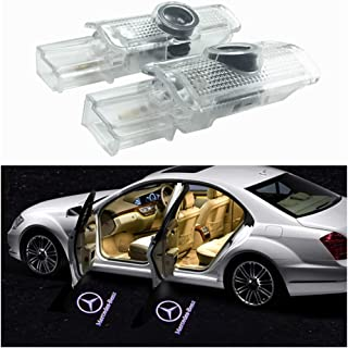4X Car Door LED Logo Projector Light for Benz,Ghost Shadow Welcome Lights Courtesy Step Lamp Kit for Benz W215 W164 X164