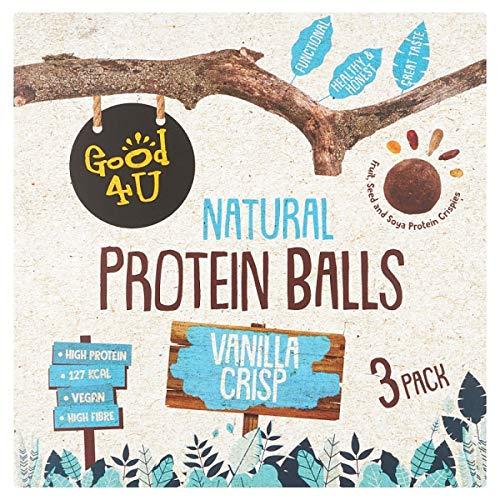 Good4U Protein Balls Vanilla Crisp 3*40g, 120 g