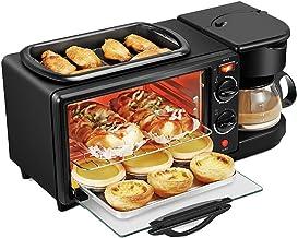 3 en 1 électrique Petit déjeuner Machine, multifonction Friture cuisson Mini Pan four et Teapot for Egg Friture Pain Grill...