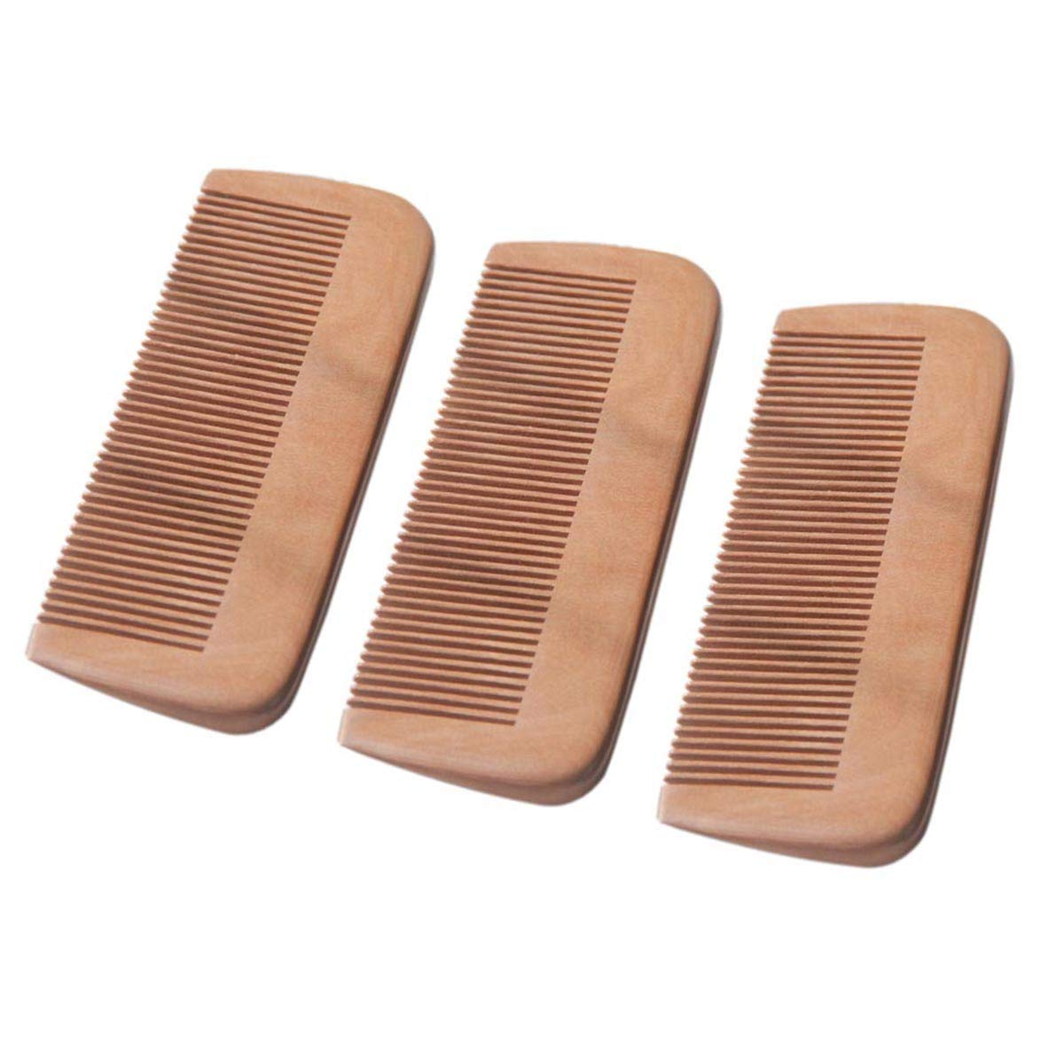 MXHAPPY Wooden Comb Natural sold out Direct sale of manufacturer Wood Hair Peach Detangling