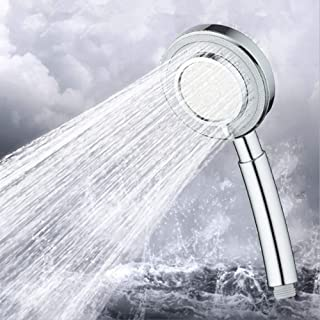 Hand Held Shower Head 3 Spray Settings High-Pressure Handheld Shower Head Easy Install Fit for High and Low Water Flow