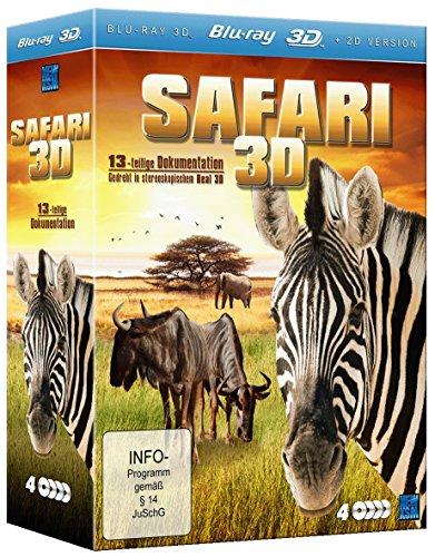 Safari 3D (13-teilige Dokumentation im 4 Disc Set) (inkl. 2D Version) [3D Blu-ray]