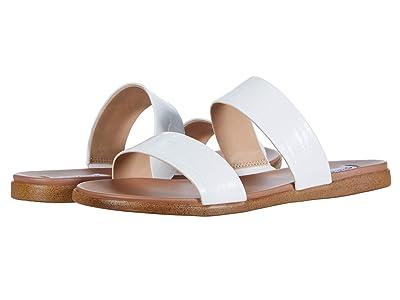 Steve Madden Dual Flat Sandal (White Croco) Women