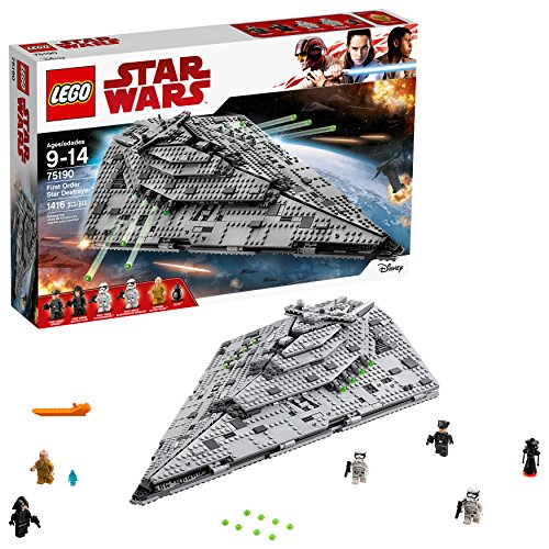 LEGO Star Wars Croiseur Premier Ordre Star Destroyer First Order 75190 - 1416 Pièces - 0