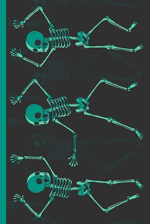 統計航海賢いThree Dancing Human Skeletons: Cannabis College Ruled Notebook