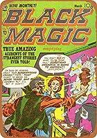 2個 20 * 30CMメタルサイン-ブラックマジックコミック3 メタルプレート レトロ アメリカン ブリキ 看板