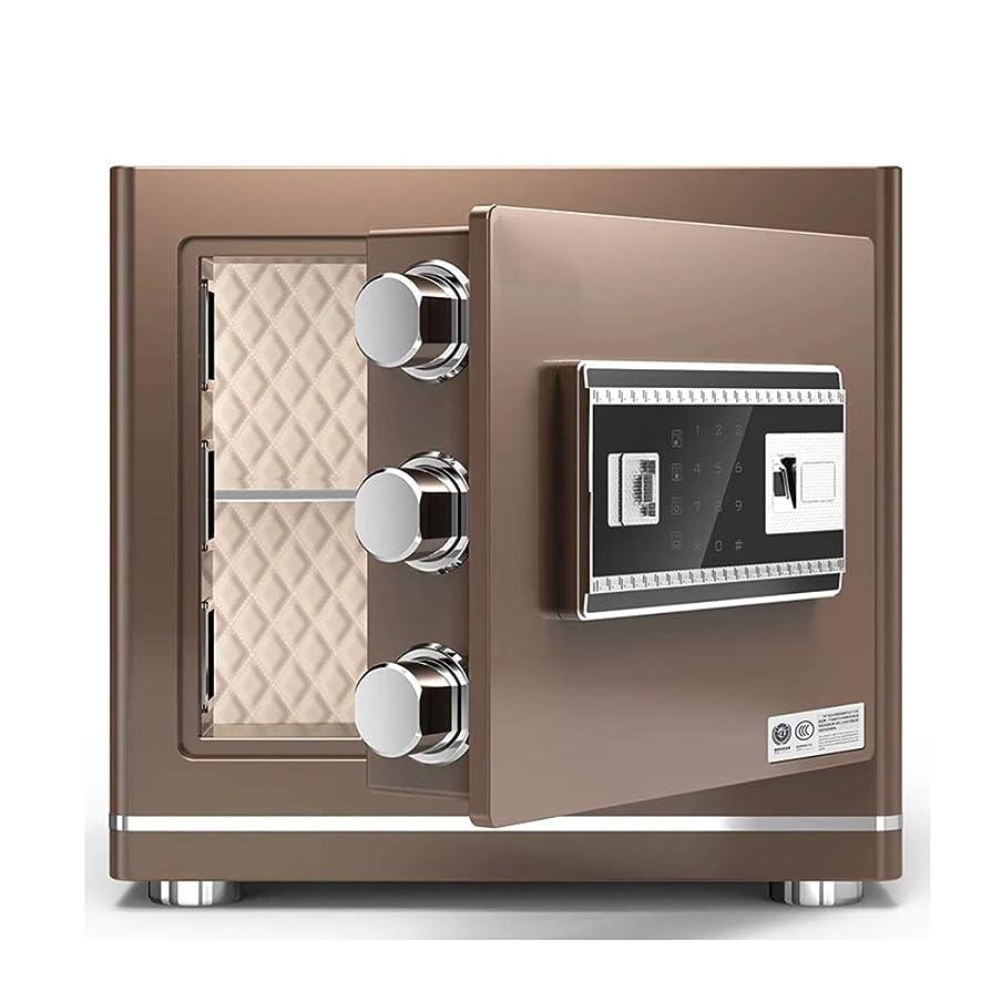 期待して段落ブーム家庭用および企業のための緊急のキーとのセーフティボックスの取り付けパスワードと指紋セキュリティ安全?ウォール (Color : Gold)