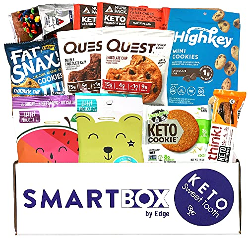 Keto Sweets and Desserts Snack Box and Care Package | Low Carb and Keto Friendly Gift or Snack Set | Packed with Low Carb, Low Glycemic Snacks!