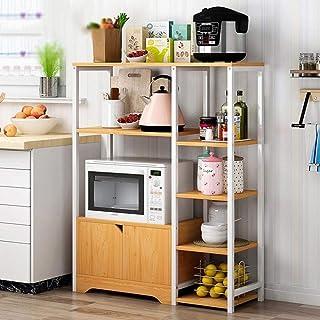 KCCCC Armoire de Cuisine Organisateur Utilitaire Vintage Rack de Cuisine Baker étagère de Rangement Stand avec des étagère...