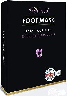 Foot peel mask, 2 Pairs baby foot peel, make your feet baby Soft, exfoliating foot mask, repair rough heels, get silky soft feet, tested in germany (rose)