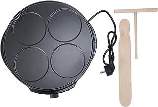 Electric Tortilla Maker, Aluminiumlegering Multifunktionell High-power Electric Crepe Maker, 1200W Roterande temperaturjus...