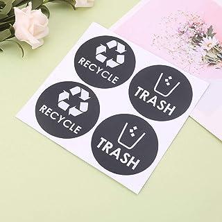 Because0f Adesivo de vinil com símbolo de lixo reciclável para latas de lixo, recipiente de lixo