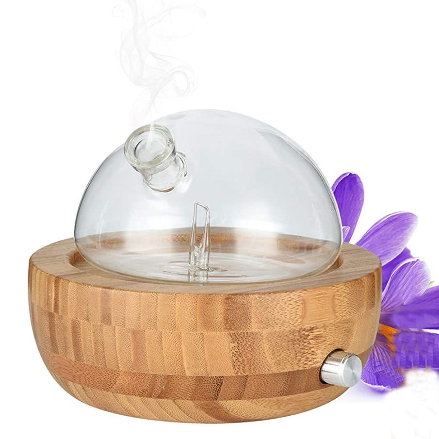 Hxibod Natural Bamboo Glass Essential Oil Nebulizer Aromatherapy Diffuser Humidifier