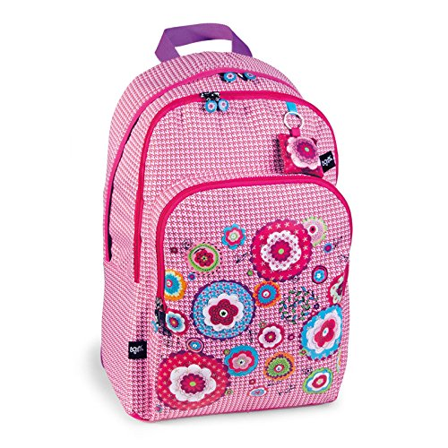 mochila escolar doble HIPPY FLOWER