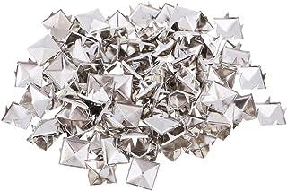 100Pcs 10mm Pyramid Studs, Silver/Gold Square Stud Rivet DIY Spike Punk Spikes Spots