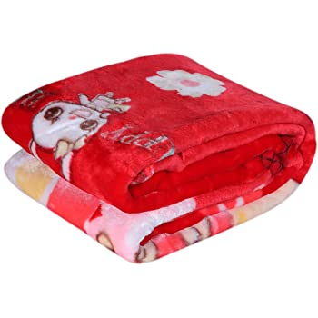 homescape Newborn Baby's Supersoft Double Layer Blanket (Red, 90x110 cm)