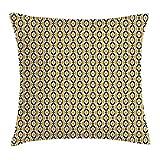 ZUL Fundas de Almohada con Estampado 3D, patrón folclórico geométrico Bohemio en Tonos Tierra, Fundas de cojín cuadradas Decorativas para sofá, decoración del hogar