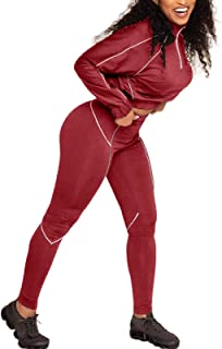 Sweatsuit for Women 2 Piece Long Sleeve 1/4 Zip Pullover Tops and Skinny Long Pant Set Outfits Jogger Suit