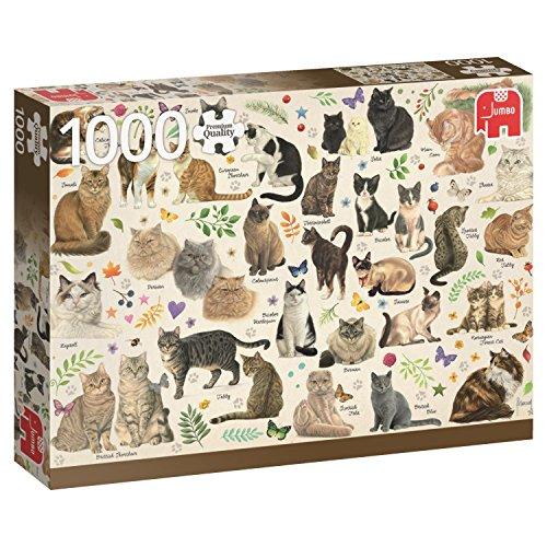 Jumbo Spiele 18595 Katzen Poster - 1000 Teile Puzzle