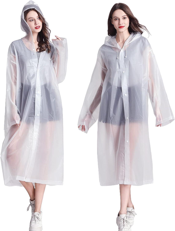 Rain Poncho for Fees free Adults Women Max 50% OFF Men Reusable Lightwei EVA Raincoat