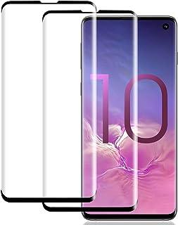 شاشة حماية 9D كامل اللصق من الزجاج المقسّى المنحني - لحماية كامل الشاشة والحواف - اسود - لموبايل سامسونج جالكسي s10 بلس