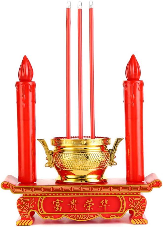 vegan LED Candle Lamp Decor Avalokites Max 41% OFF Light 55% OFF Buddhist