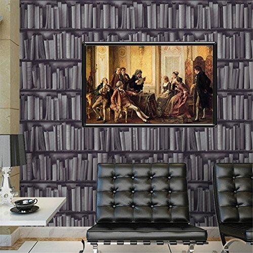 Wallpaperpvcmodern Minimalismus Bücherregal Wallpaper Persönlichkeit Wasserdicht Pvc Bekleidungsgeschäft Restaurant Hintergrund Wallpaper Hintergrundbild (0.53 * 10)