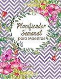 Planificador Semanal para Maestras: Formato de Planificacion de Clases, Chevron Púrpura Morado