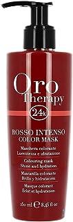 Fanola - Mascarilla colorante profesional Oro Therapy 24K aporta brillo hidrata aviva colory ayuda a iluminar reflejo...