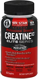Six Star Creatine X3 Capl Size 60ct Six Star Elite Series Creatine X3 Caplets 60ct
