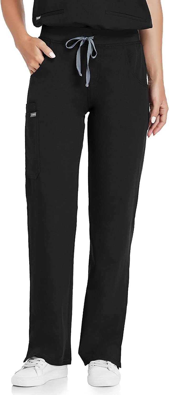 COMENII Scrub Pants for Women Super 100% quality warranty! beauty product restock quality top Leg Straight Mid Rise Cargo