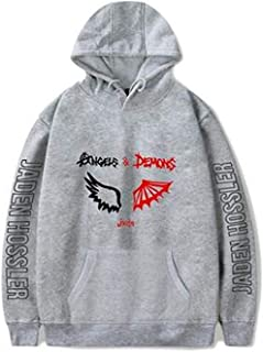 ZEDALE Angels & Demons by jxdn Hoodie Sweatshirts Men Women Jaden hossler Pullover Unisex Harajuku Tracksui