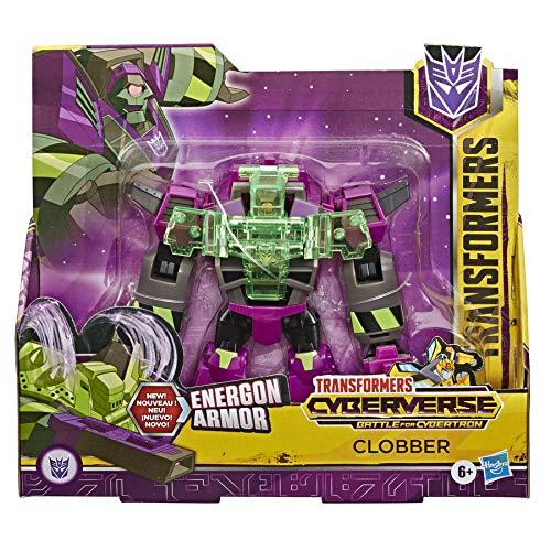 Transformers Toys Cyberverse Ultra Class Clobber Action-Figur – kombiniert mit Energon Rüstung zur Stromversorgung – für Kinder ab 6 Jahren, 17 cm