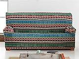Lanovenanube - Funda sillón Kilim 1 Plaza Color Marrón C07