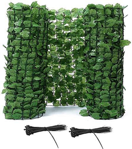 SLZFLSSHPK Siepe Artificiale con Siepe Artificiale OrnamentaleRecinzioni Decorative Schermo per Recinzione per la Privacy Pannello in Rete di plastica di edera Artificiale Migliora Lo Scenario con Fa