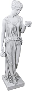 Design Toscano KY71304 Hebe the Goddess of Youth Greek Garden Statue, Large 32 Inch, Antique Stone