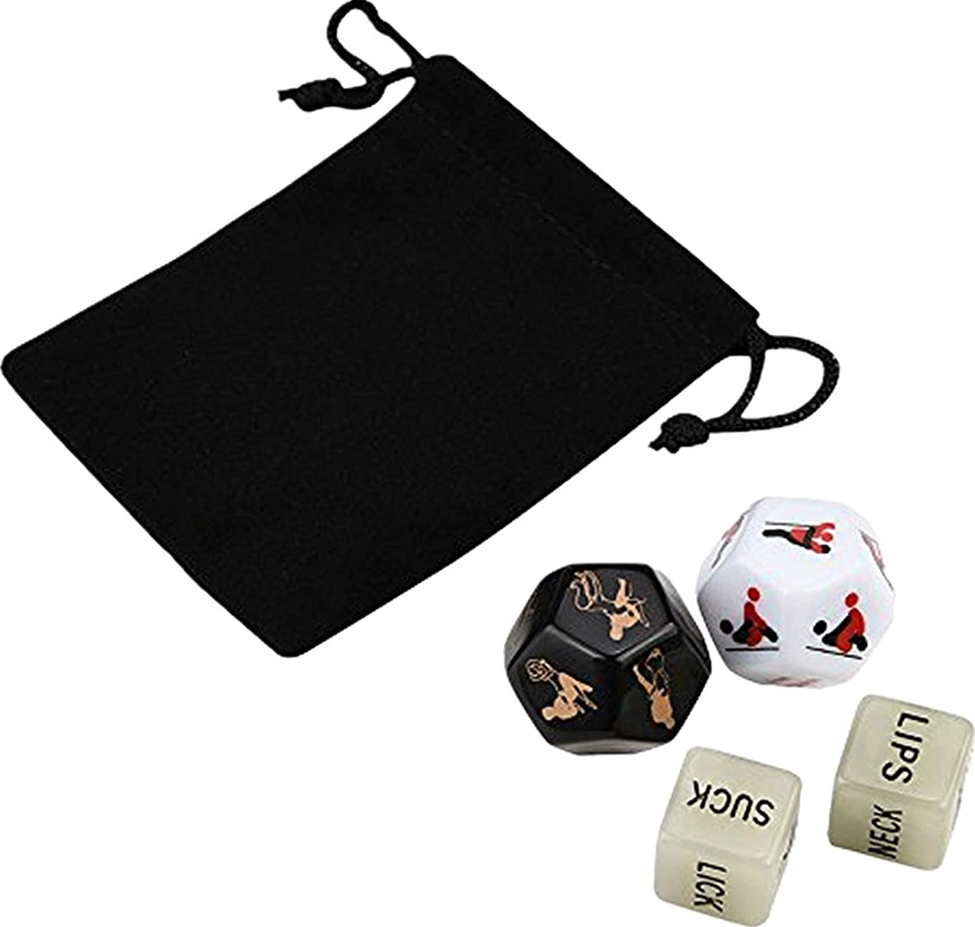 GC-US A Set of 4 Toys, Beautiful multifaceted Style to Play Games Fun Game dice Toy Party