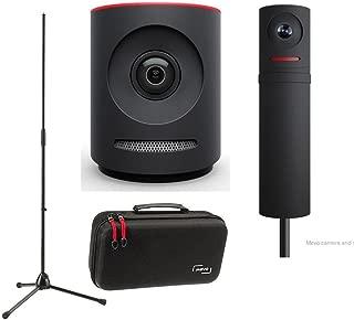 Mevo Plus Live Event Camera by Livestream, Black - Bundle Boost by Livestream, Case for Live Event Camera, K&M Microphone Stand