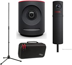 Mevo Plus Live Event Camera by Livestream, Black - Bundle Boost by Livestream, Case for Live Event Camera, K&M Microphone Stand
