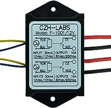Electronics-Salon 1PCS Dual SPST-NO 10Amp Power Relay Module, AC/DC 12V Control Voltage.